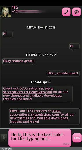 GO SMS - Intense Light Pink