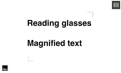 Magnifying Glass for reading - screenshot thumbnail