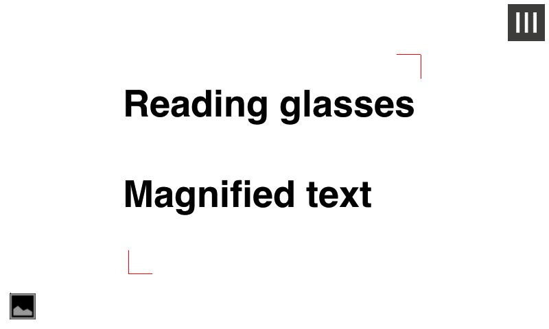 Magnifying Glass for reading - screenshot