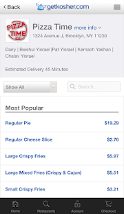 Get Kosher - Order Kosher Food- screenshot thumbnail