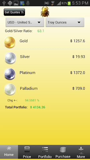 Silver and Gold Prices Live