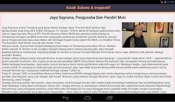 Screenshot of Kisah Sukses & Inspiratif