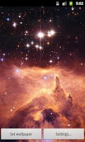 Screenshot of Zooming Cosmos Live Wallpaper