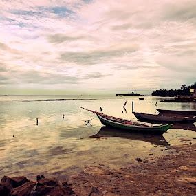 Tidung island by Lisawati Gunawan - Landscapes Beaches ( , Beach, sunset, blue, water, ocean.  )