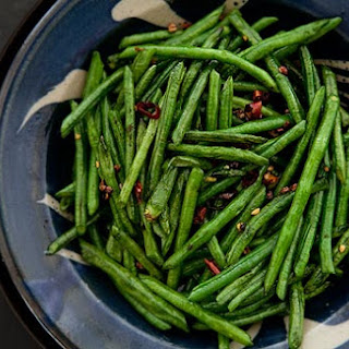 Sichuan Style Stir-Fried Chinese Long Beans.