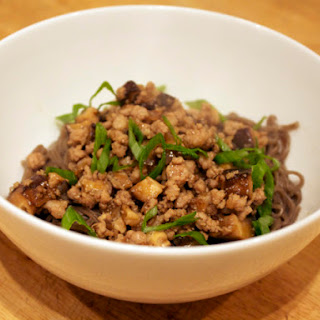 Minced Pork with Soba Noodles