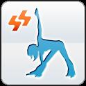 Refreshing morning yoga icon