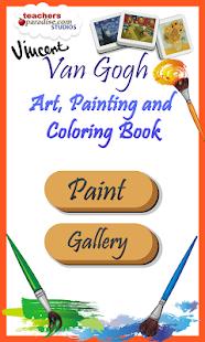 vincent van gogh coloring book screenshot thumbnail - Van Gogh Coloring Book