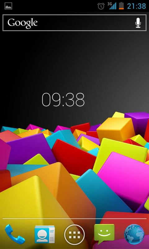 Roboto Clock- screenshot