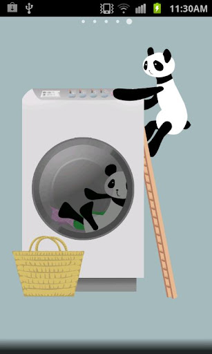 Panda washing Live Wallpaper 1.8 Windows u7528 1