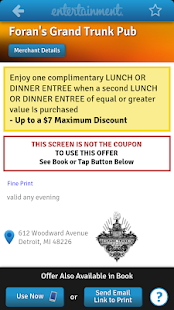 Entertainment Coupons - screenshot thumbnail