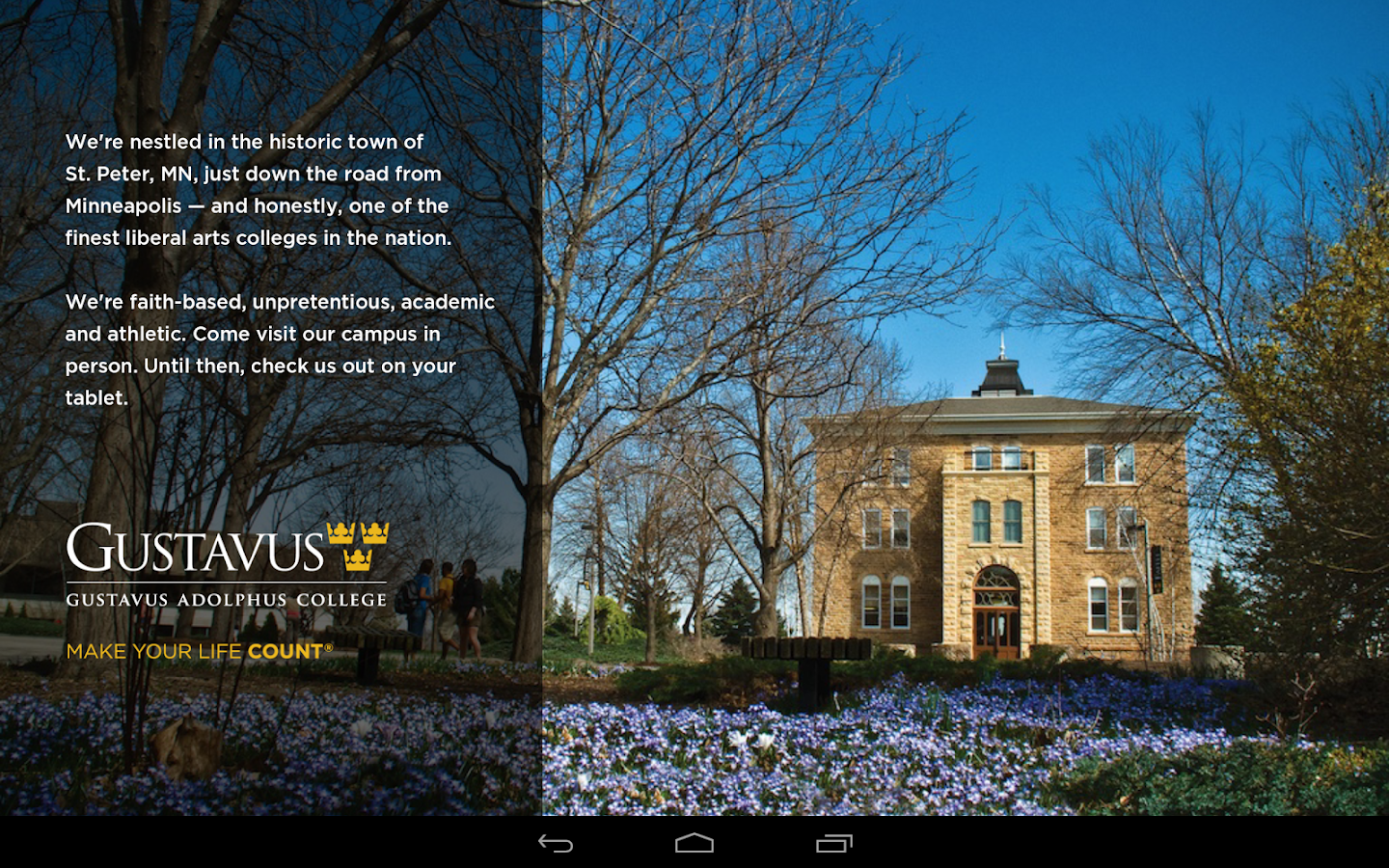 Gustavus on your Tablet - screenshot