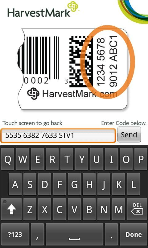 HarvestMark Food Traceability - screenshot