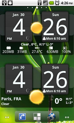 Sense Analog Clock Widget Dark 3.3.2 APK