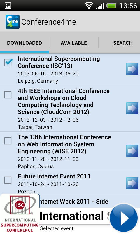 Conference4me - screenshot