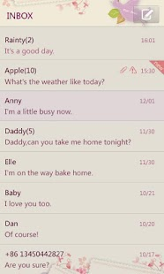 GO SMS Pro Love Letter Theme - screenshot thumbnail