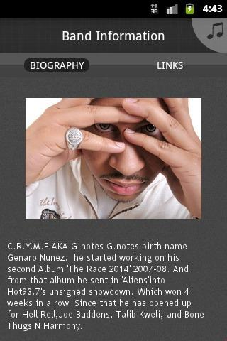 Cryme aka G.notes - screenshot