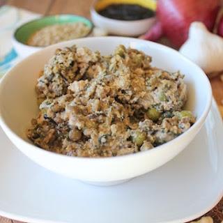 Spinach, Lentil & Wild Rice Casserole.