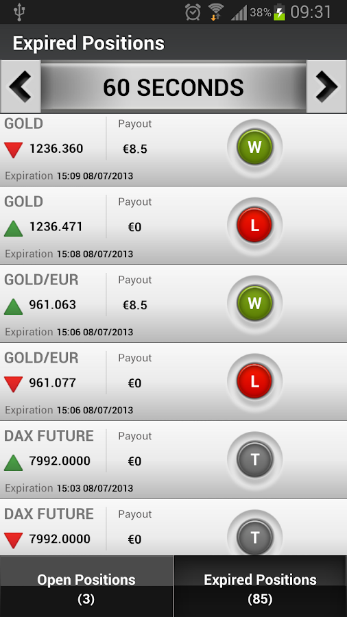 Winoptions - Binary options- screenshot