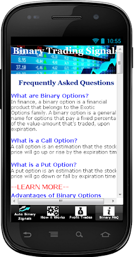 Mobile trading signals