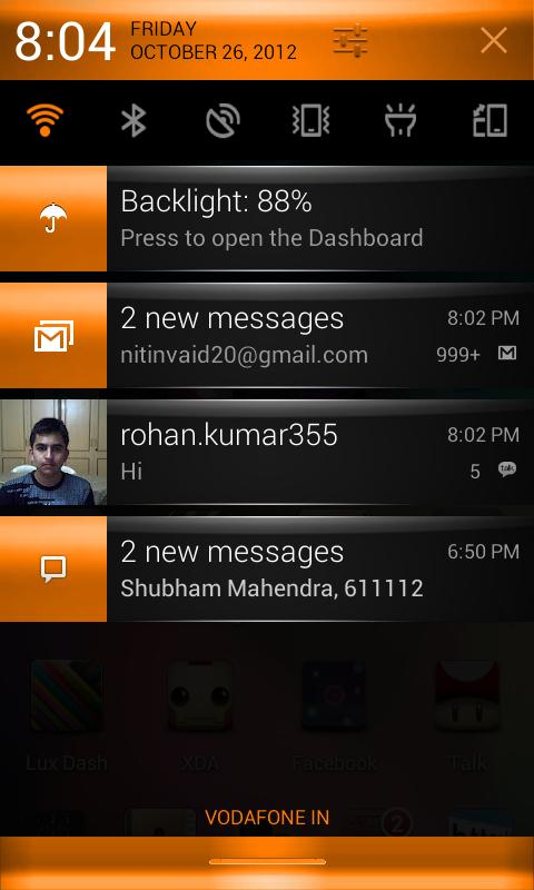 CM10 Orange Revolution Theme - screenshot