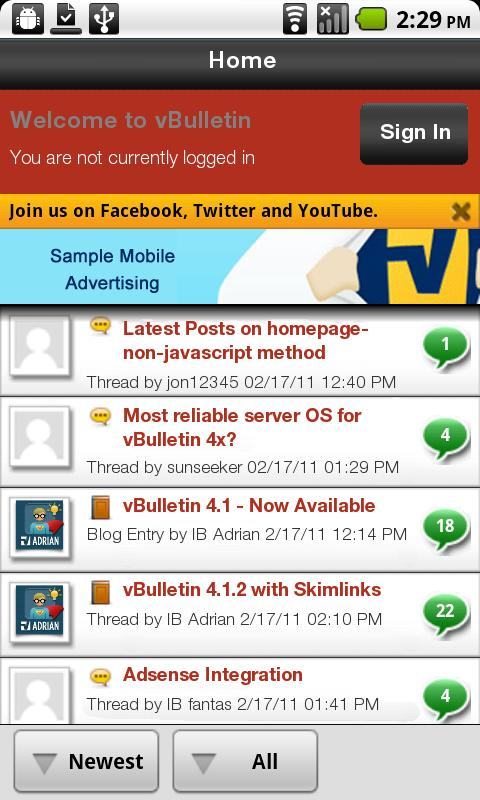 BareBlogg Mobile - screenshot