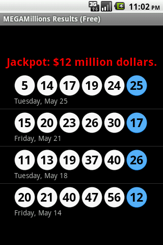 MEGAMillions Results (Free) - screenshot