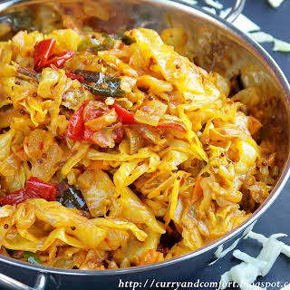 Spicy Deviled Cabbage Curry.