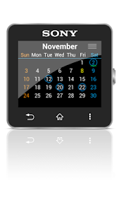 Calendar for SmartWatch 2