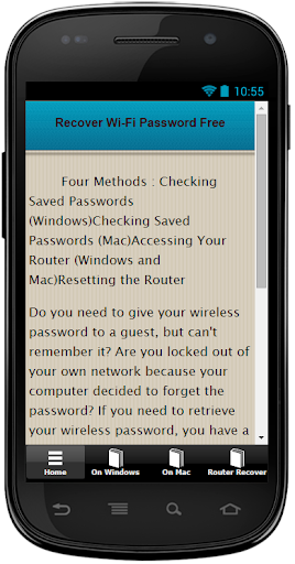 Recover WiFi Password Free