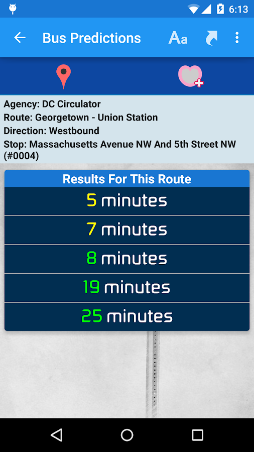 DC Metro Transit- screenshot