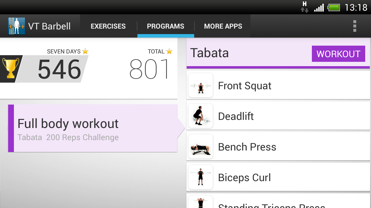 Virtual Trainer Barbell- screenshot