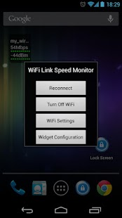 WiFi Status(Link Speed) Widget- screenshot thumbnail