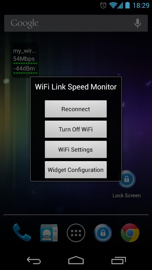 WiFi Status(Link Speed) Widget- screenshot