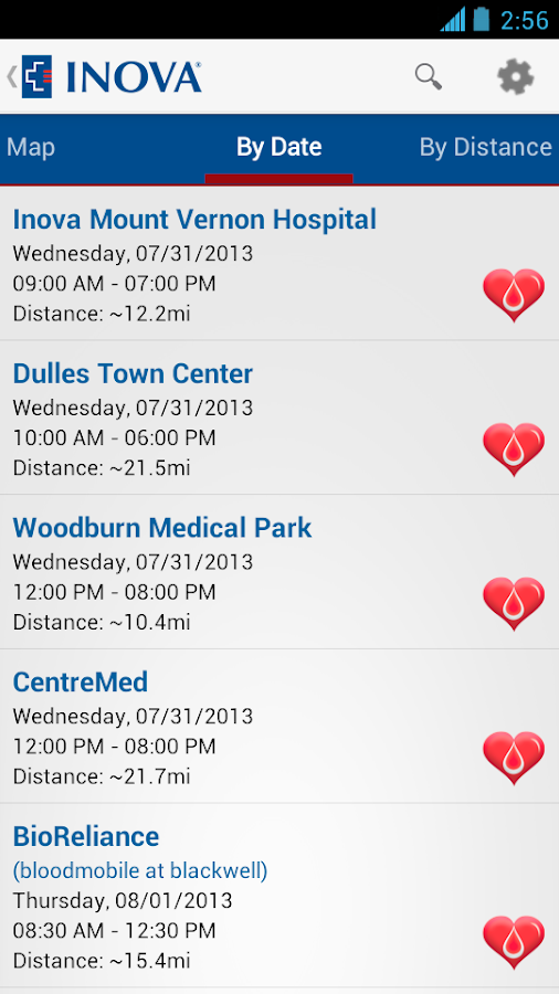 Inova Blood Donor - screenshot