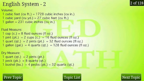 GED Math Review - screenshot thumbnail