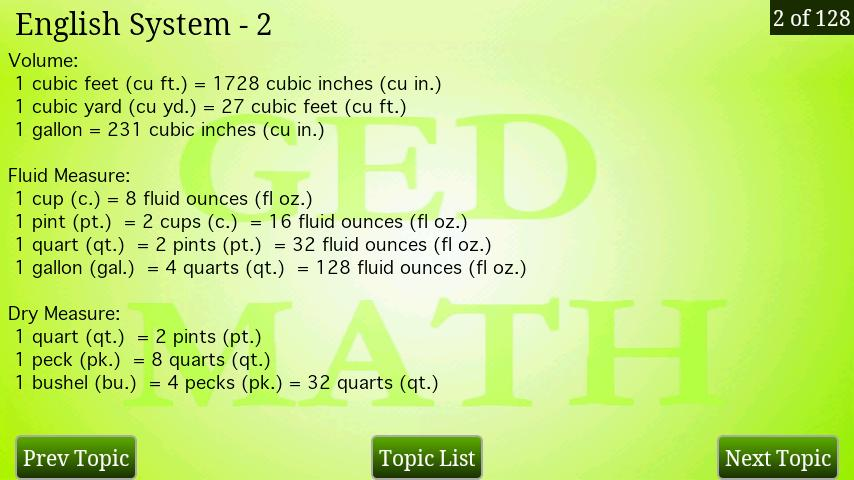 GED Math Review - screenshot