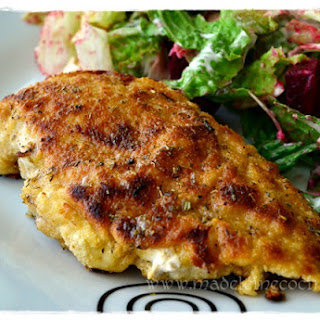 Breaded Chicken Breast Prepared in Butter and Fine Herbs.