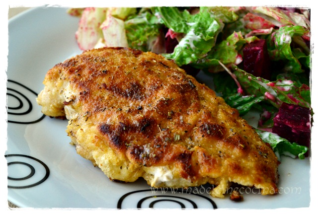 Breaded Chicken Breast Prepared in Butter and Fine Herbs Recipe