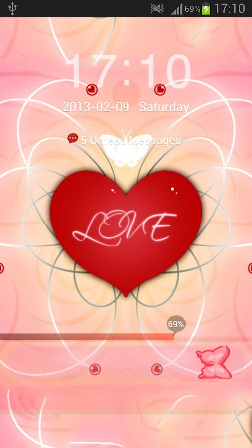 GO Locker Theme Romantic- screenshot