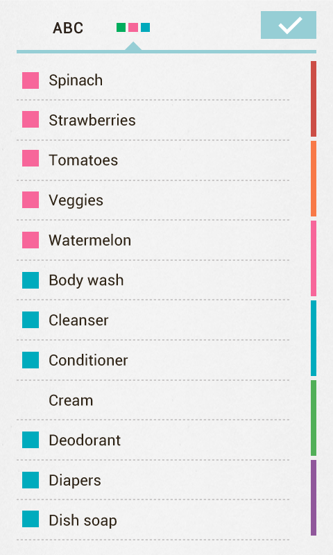 Buy Me a Pie! Grocery List - screenshot