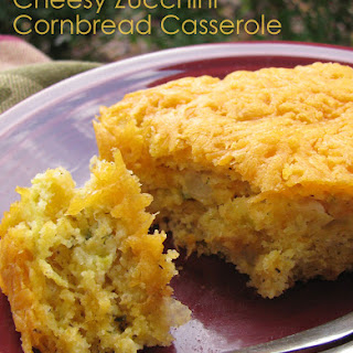 Cheesy Zucchini Cornbread Casserole