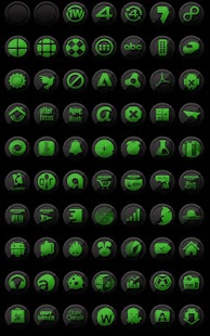 3D Black and Green - Icon Pack- screenshot thumbnail