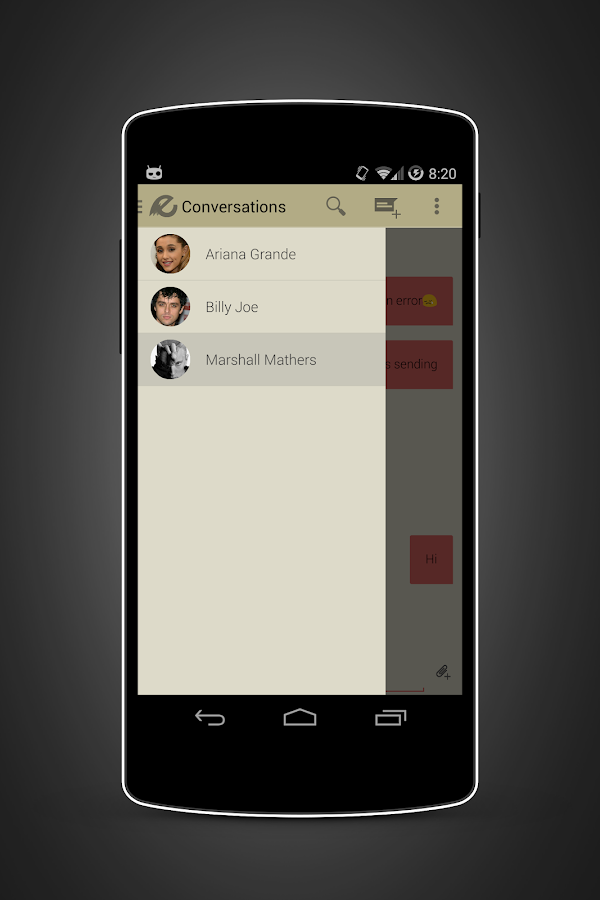 EvolveSMS Minum- screenshot