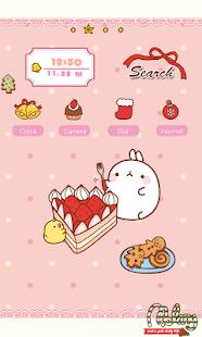 CUKI Theme Merry cake Molang