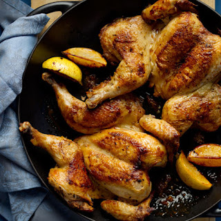 Spatchcocked Lemon Herb Chicken