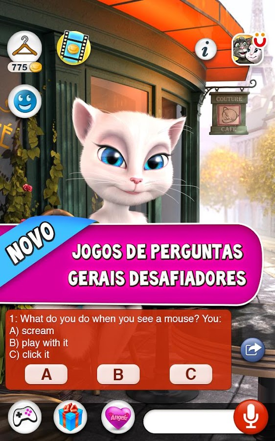 Talking Angela: captura de tela