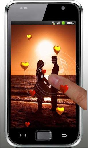 Sunset Hearts Live Wallpaper