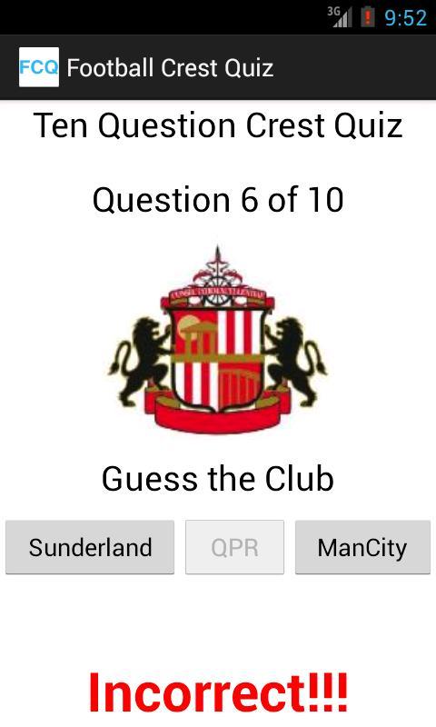 Football Crest Quiz- screenshot