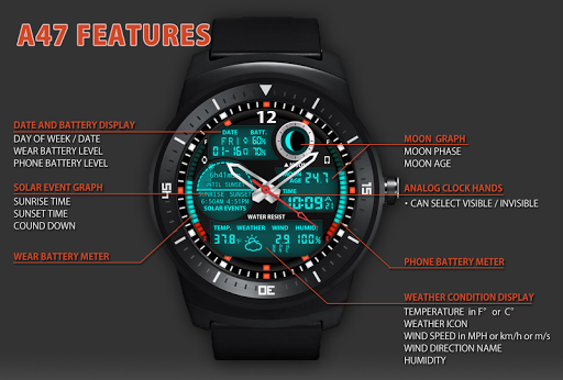 A47 WatchFace for LG G Watch R